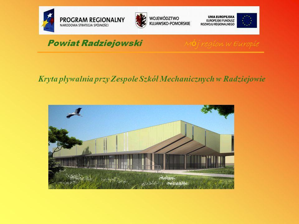 Podstawowe dane: powierzchnia zabudowy - 1 483 m 2 powierzchnia użytkowa ogółem - 2 836 m 2 w tym: - podbasenie - 1034 m 2 - parter - 1345 m 2 -pierwsze piętro - 457 m 2 -kubatura pływalni - 17 935 m 3 Powiat Radziejowski
