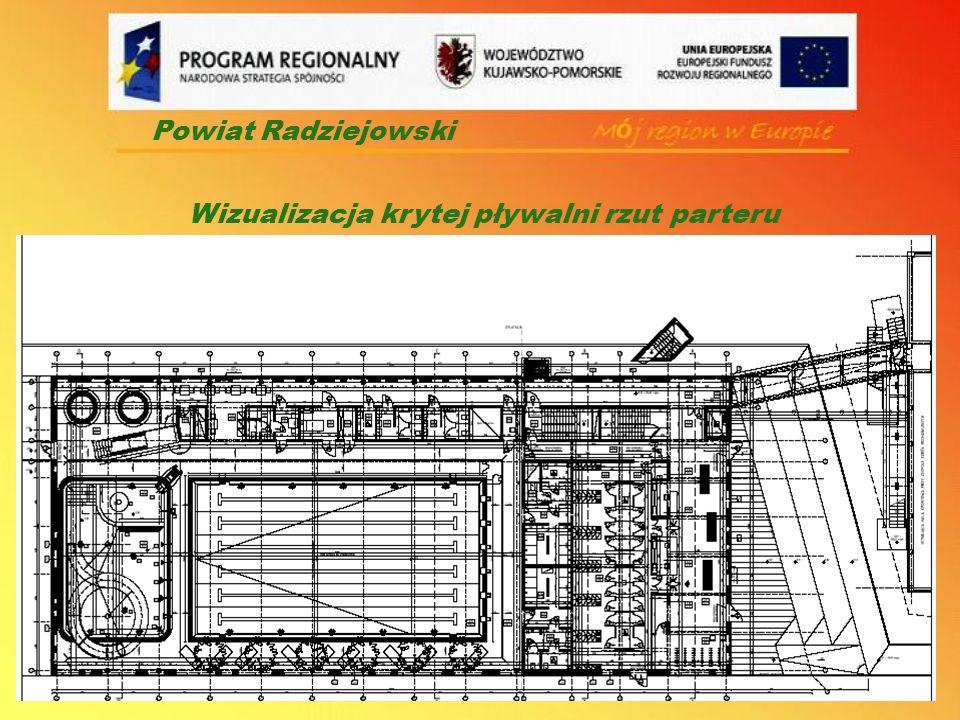 Powiat Radziejowski Wizualizacja krytej pływalni rzut parteru
