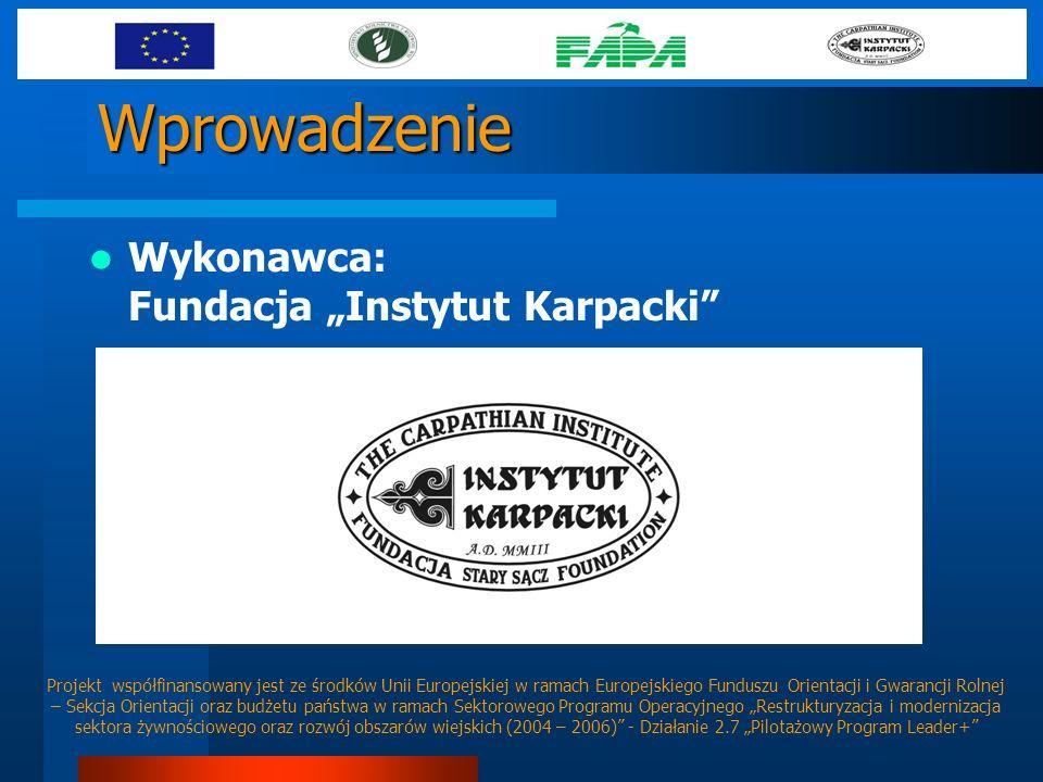 Wprowadzenie Wykonawca: Fundacja Instytut Karpacki Projekt współfinansowany jest ze środków Unii Europejskiej w ramach Europejskiego Funduszu Orientac