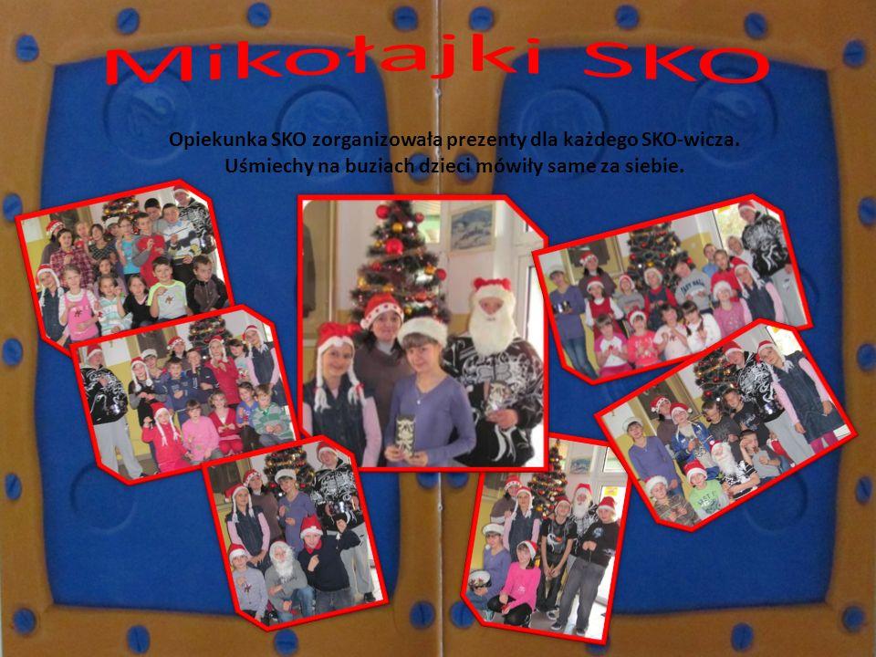 Opiekunka SKO zorganizowała prezenty dla każdego SKO-wicza. Uśmiechy na buziach dzieci mówiły same za siebie.