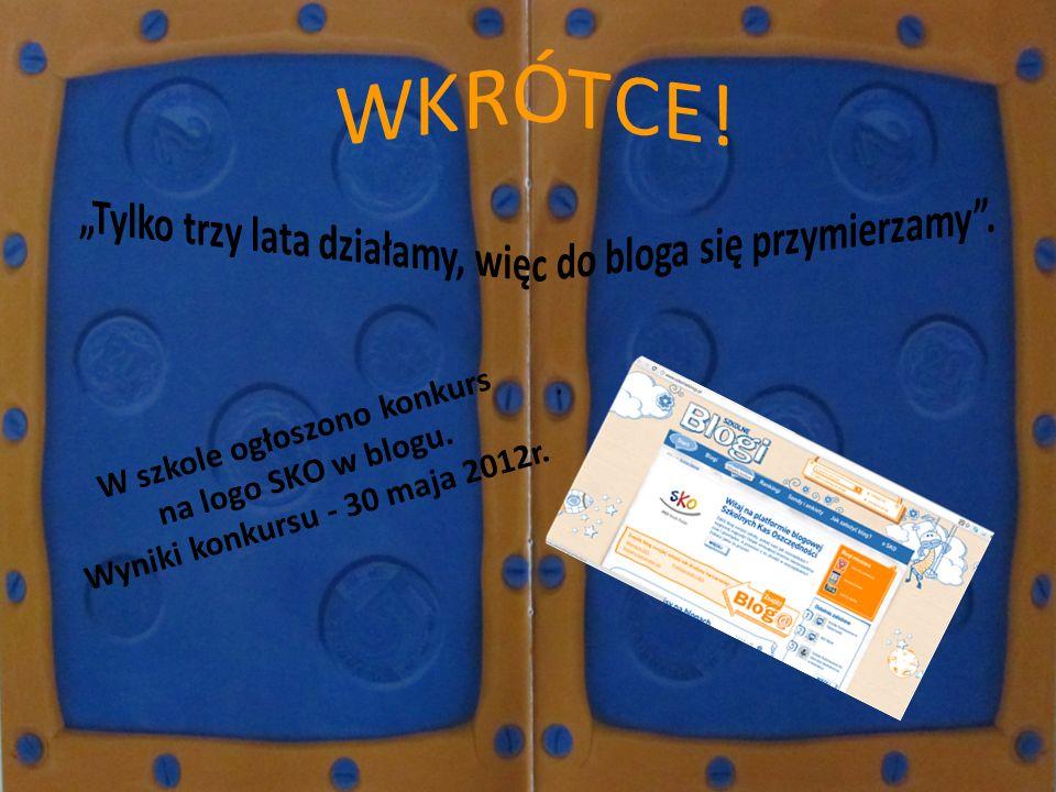 W szkole ogłoszono konkurs na logo SKO w blogu. Wyniki konkursu - 30 maja 2012r.