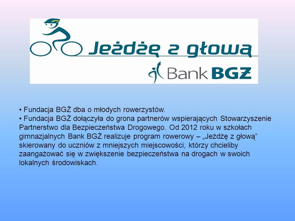 Fundacja BGŻ dba o młodych rowerzystów. Fundacja BGŻ dołączyła do grona partnerów wspierających Stowarzyszenie Partnerstwo dla Bezpieczeństwa Drogoweg