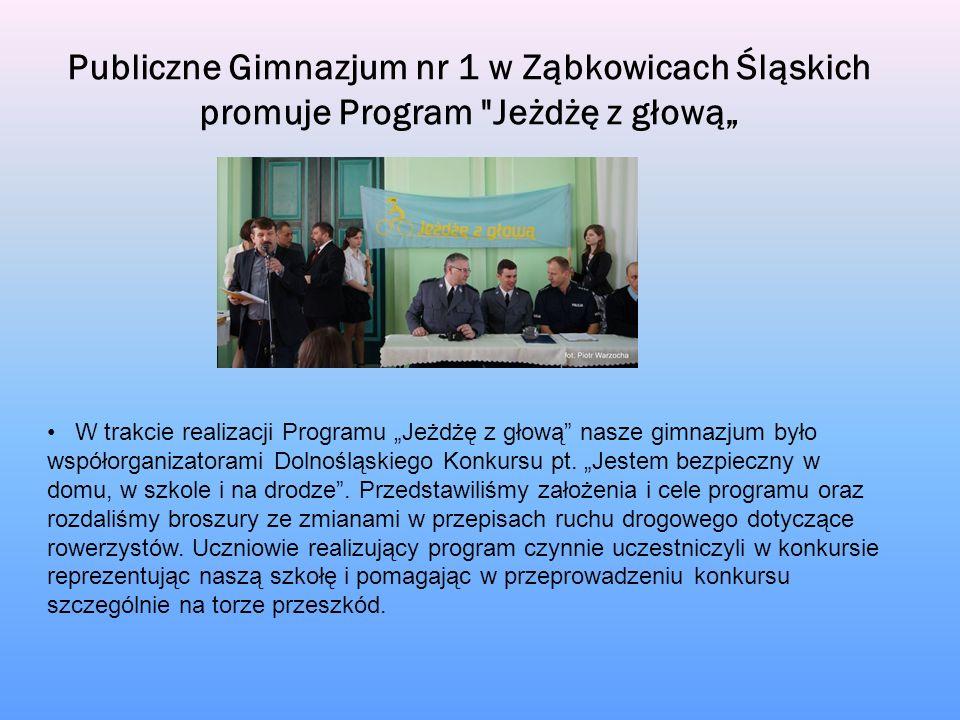 Publiczne Gimnazjum nr 1 w Ząbkowicach Śląskich promuje Program