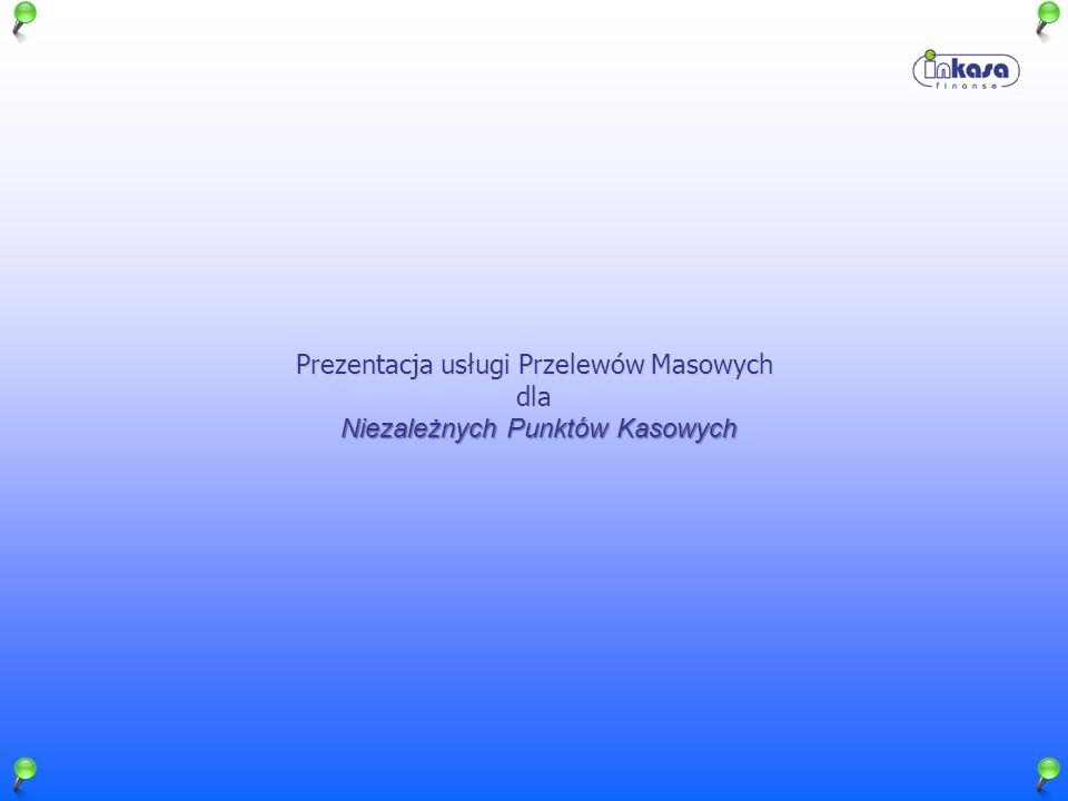 Prezentacja usługi Przelewów Masowych dla NiezależnychPunktówKasowych Niezależnych Punktów Kasowych