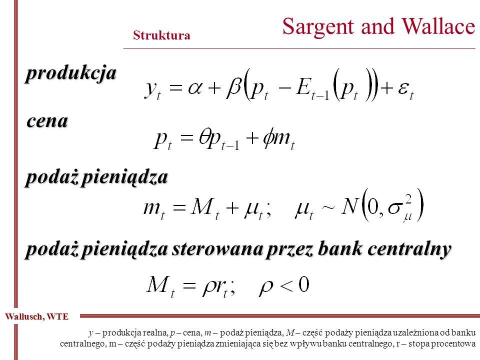 produkcja Sargent and Wallace ________________________________________________________________________________________ Struktura Wallusch, WTE cena y
