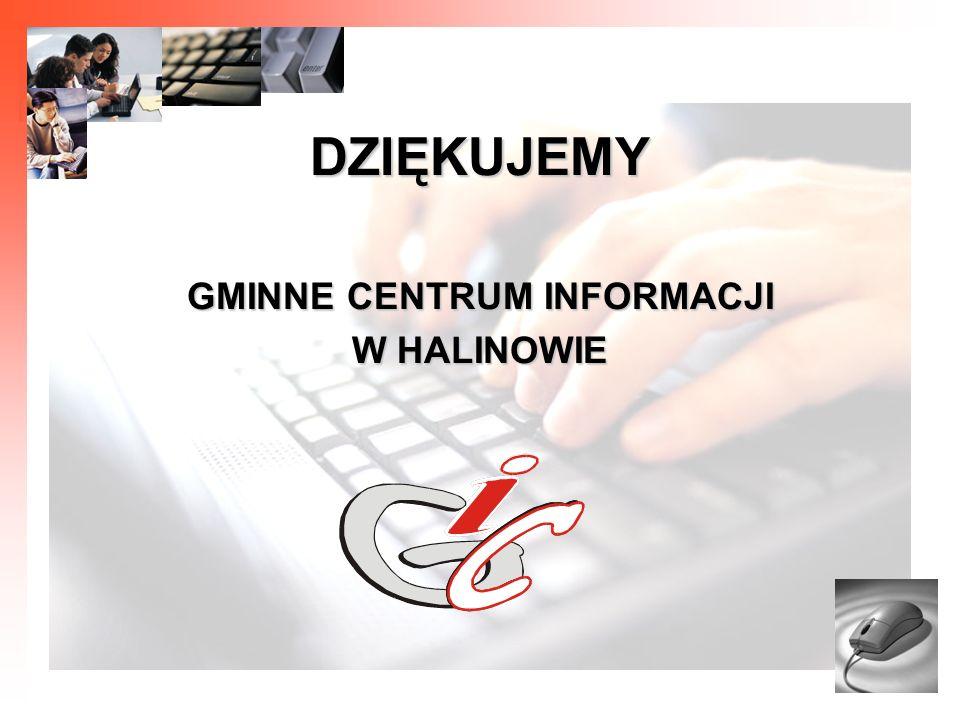 25 DZIĘKUJEMY GMINNE CENTRUM INFORMACJI W HALINOWIE
