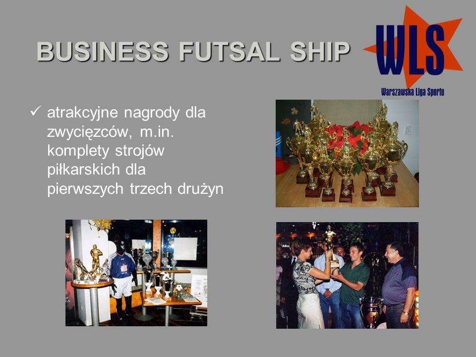 BUSINESS FUTSAL SHIP atrakcyjne nagrody dla zwycięzców, m.in.