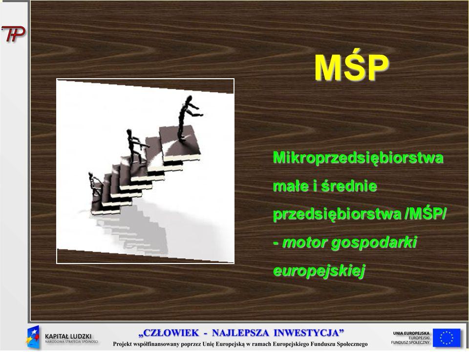 MŚP Mikroprzedsiębiorstwa małe i średnie przedsiębiorstwa /MŚP/ - motor gospodarki europejskiej