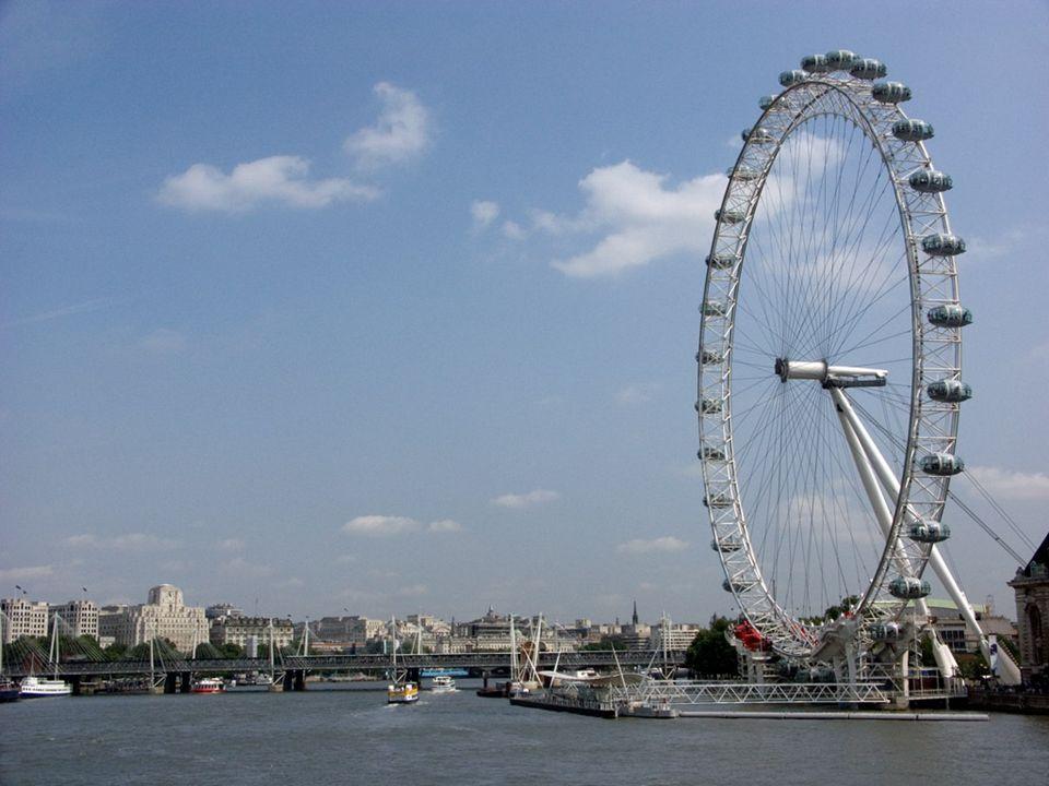 London Eye – koło obserwacyjne znajdujące się w dzielnicy Lambeth, w Londynie. Koło ma wysokość 135 metrów, a jego pełny obrót trwa około 40 minut. Ot