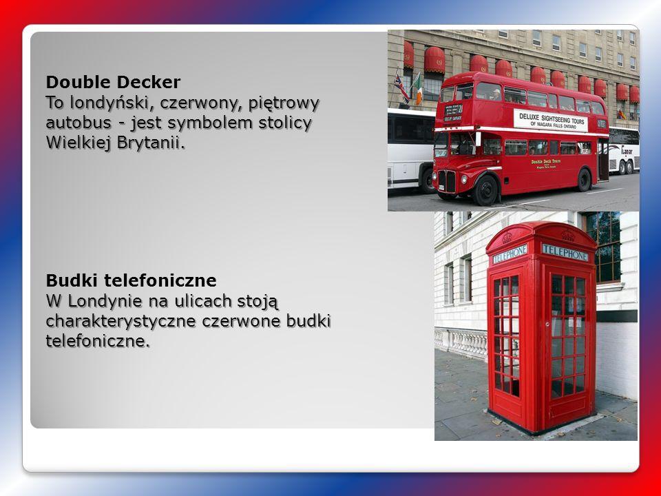 To londyński, czerwony, piętrowy autobus - jest symbolem stolicy Wielkiej Brytanii. Double Decker To londyński, czerwony, piętrowy autobus - jest symb