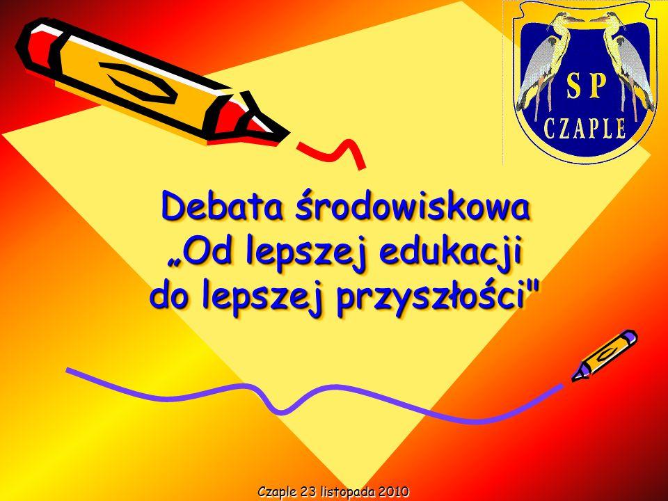 Debata środowiskowa Od lepszej edukacji do lepszej przyszłości Czaple 23 listopada 2010