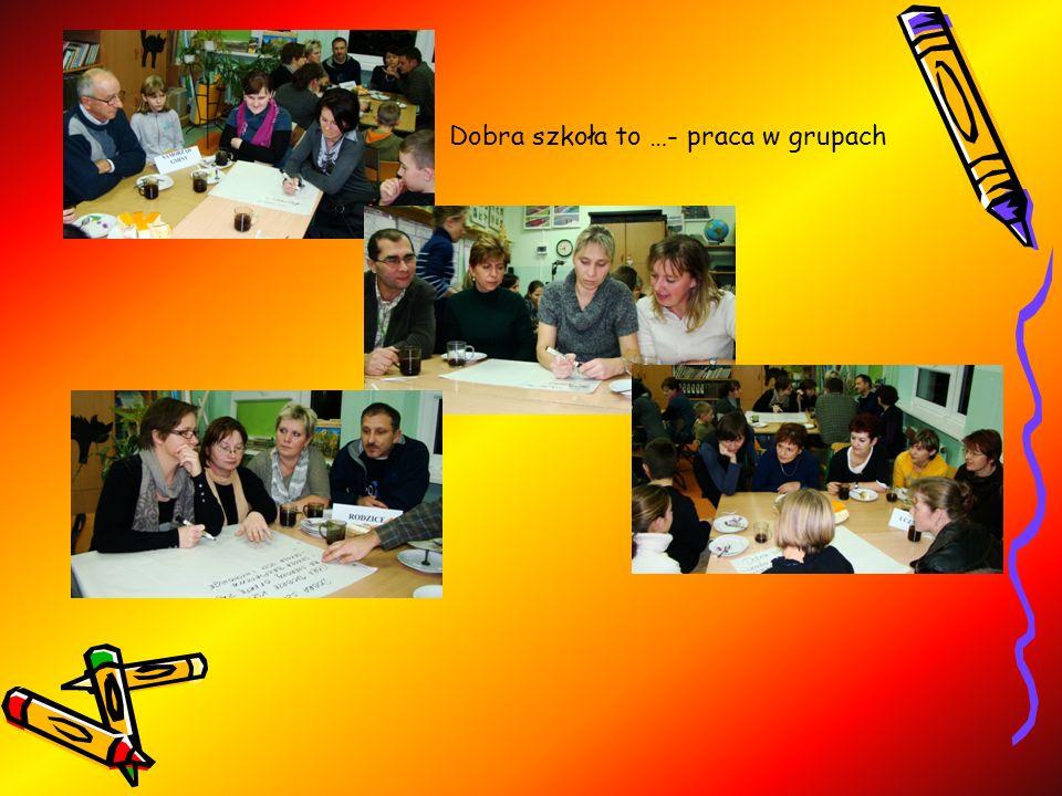 Dobra szkoła to …- praca w grupach