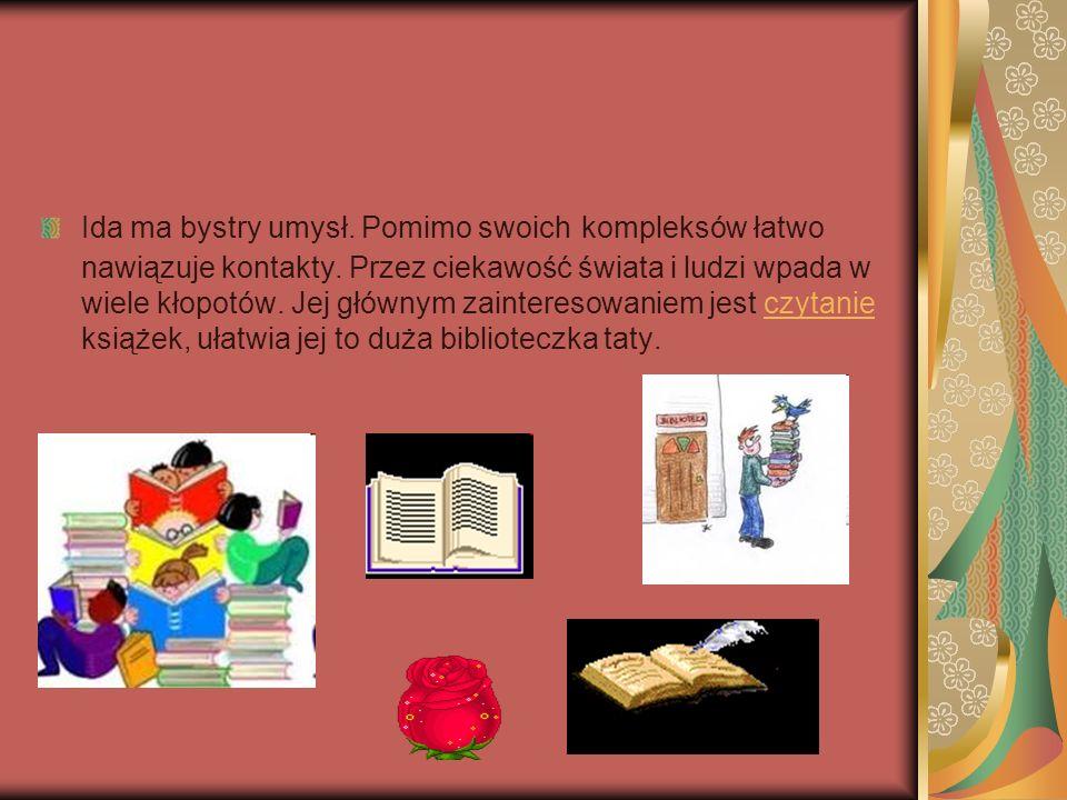 Strony www http://antares.sarmacja.org/rezerwat.html http://jezycjada-borejkowie-roosevelta.blog.onet.pl/2009/03/ http:// www.bryk.pl/lektury/ma%C5%82gorzata_musierowicz/kwiat_kalafiora.charakterystyka_bohater%C3% B3w.html http://demotywatory.pl/1250706/Zielone-oczy http://idolo.pl/moda/czarna,sukienka,wallis,jesien,zima,2011,2012,g,5447,26.html http:// www.ofeminin.pl/trendy-w-modzie/eleganckie-ubrania-zestawy-eleganckie-ubrania-d14996.html http://www.morusek.pl/ogloszenie/96486/REEM---piekny-plomienno-rudy-pies-szuka-domu/ http://www.pieski.net/pies,rudy-oczy-pies-nos.html http://satoczno.pl/?page_id=578