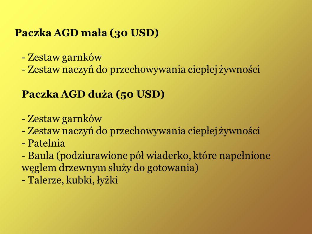 Paczka AGD mała (30 USD) - Zestaw garnków - Zestaw naczyń do przechowywania ciepłej żywności Paczka AGD duża (50 USD) - Zestaw garnków - Zestaw naczyń