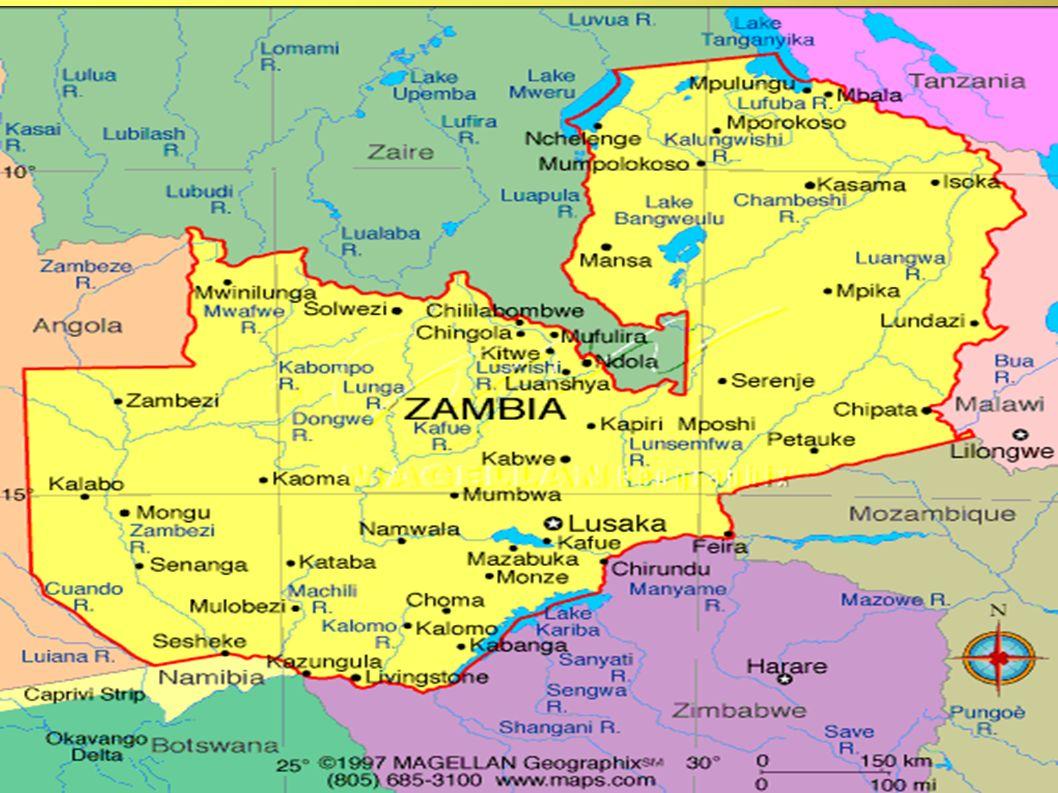 ZAMBIA Głęboko w Afryce, na południe od równika, znajduje się państwo Zambia.