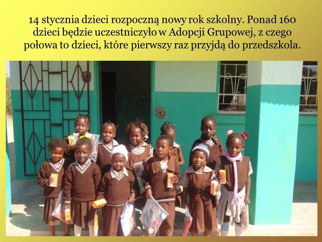 14 stycznia dzieci rozpoczną nowy rok szkolny. Ponad 160 dzieci będzie uczestniczyło w Adopcji Grupowej, z czego połowa to dzieci, które pierwszy raz