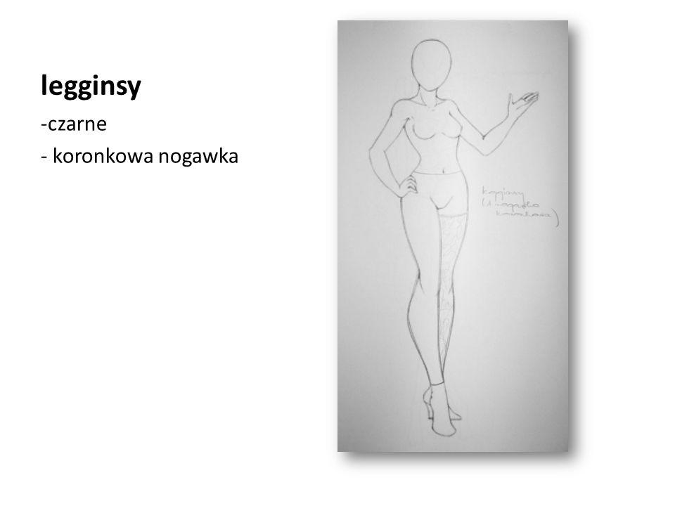 legginsy -czarne - koronkowa nogawka