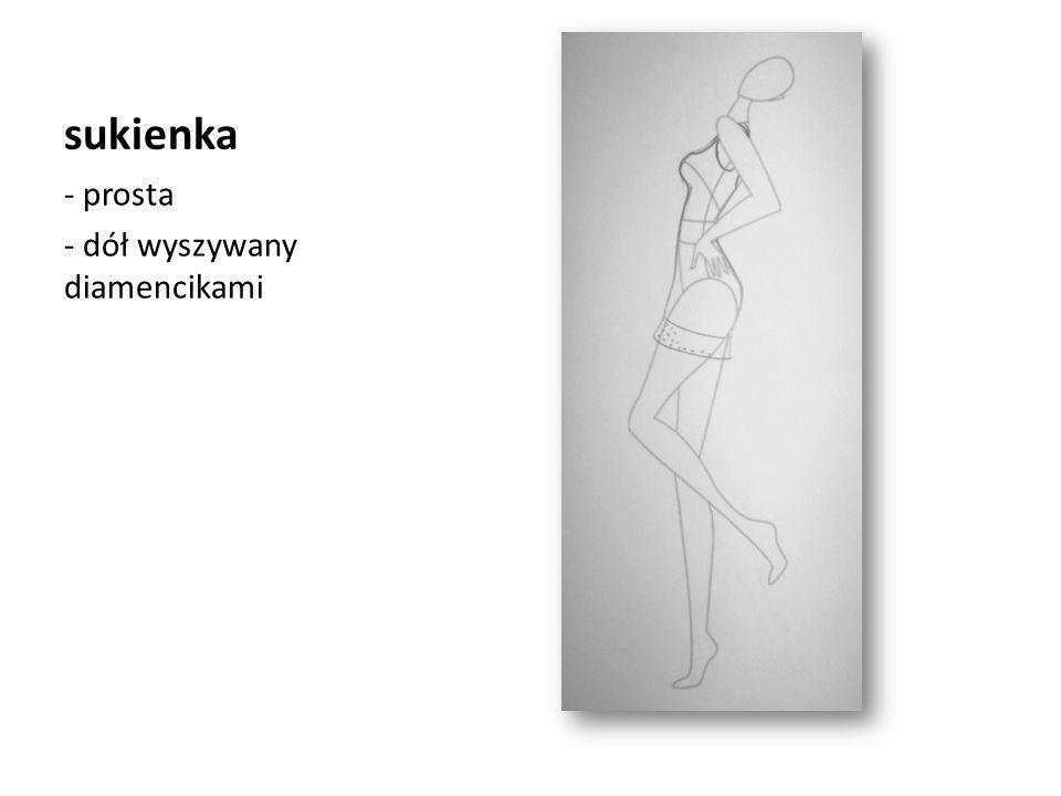 sukienka - prosta - dół wyszywany diamencikami