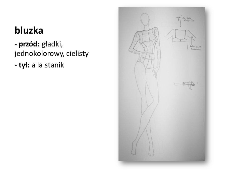 bluzka - przód: gładki, jednokolorowy, cielisty - tył: a la stanik
