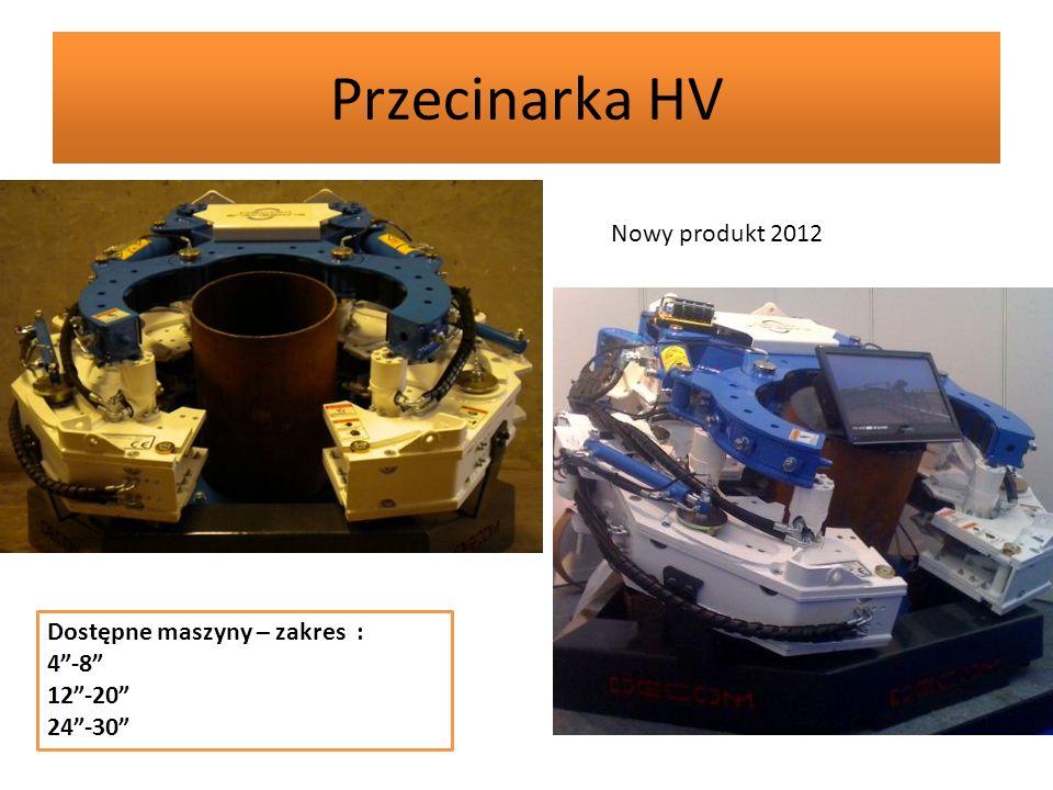 Przecinarka HV Dostępne maszyny – zakres : 4-8 12-20 24-30 Nowy produkt 2012