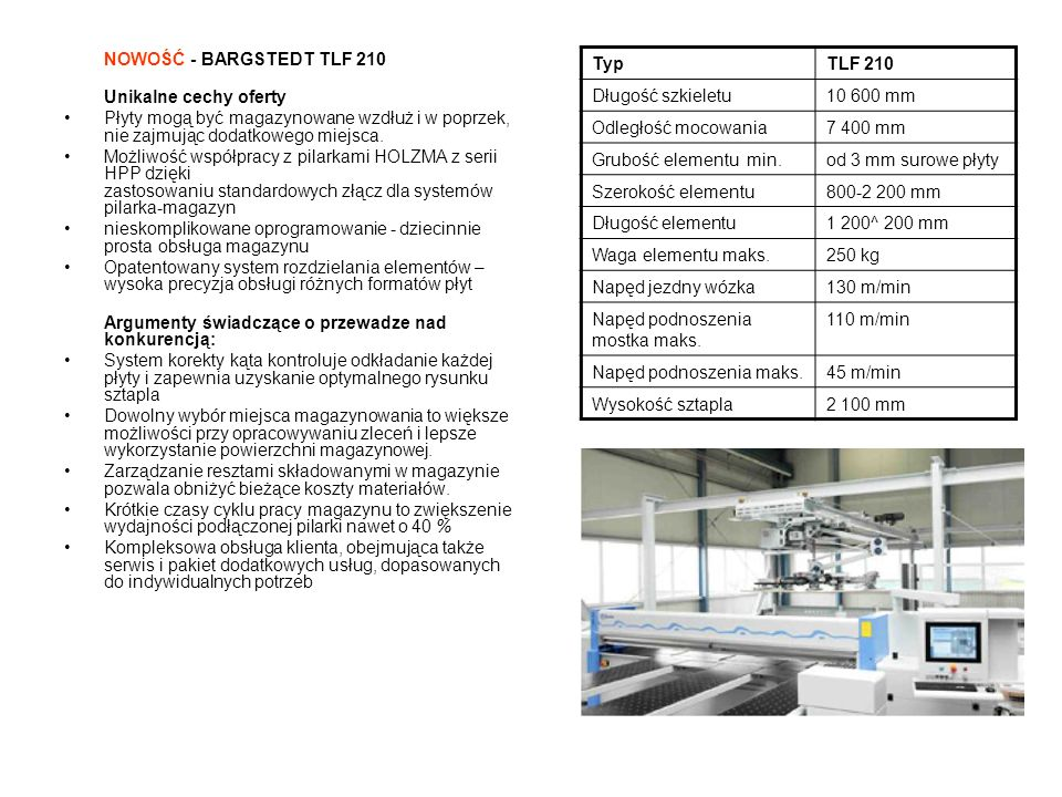 TypVenture 316 L Głębokość elementu maks.1550 mm Grubość elementu maks.