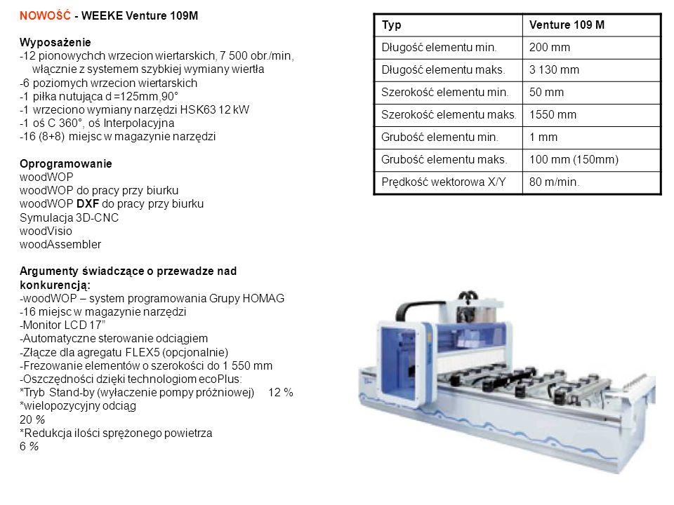 TypVenture 109 M Długość elementu min.200 mm Długość elementu maks.3 130 mm Szerokość elementu min.50 mm Szerokość elementu maks.1550 mm Grubość eleme