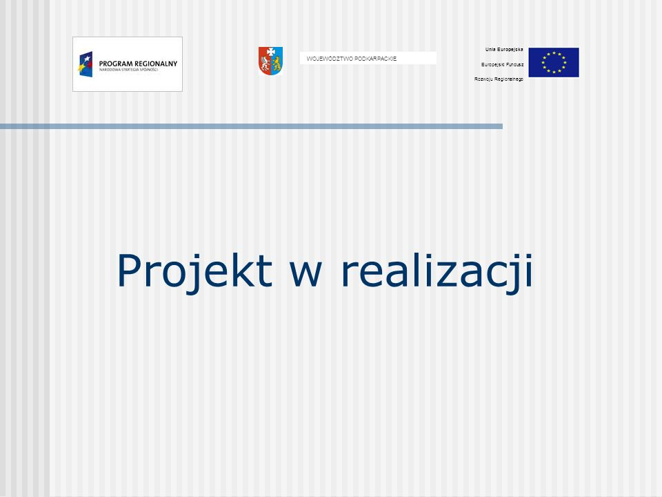 Tytuł projektu: WDROŻENIE INNOWACYJNEJ TECHNOLOGII PRODUKCJI CZĘŚCI LOTNICZYCH W WOLI MIELECKIEJ Umowa z 16 października 2009 wartość projektu: 3.450.038,00 PLN wydatki kwalifikowane: 2.827.900,00 PLN kwota dofinansowania: - środki Funduszu 1.562.414,75 PLN - Budżet Państwa 275.720,25 PLN ( 65% wydatków kwalifikowanych) wkład własny: 989.765,00 PLN