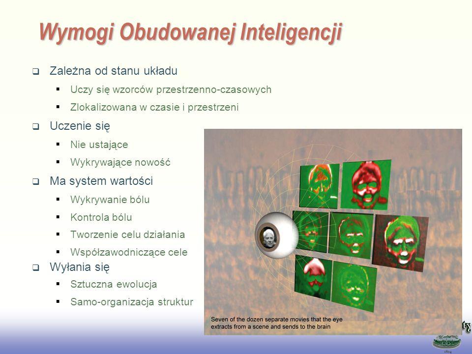 EE141 Wymogi Obudowanej Inteligencji Zależna od stanu układu Uczy się wzorców przestrzenno-czasowych Zlokalizowana w czasie i przestrzeni Uczenie się