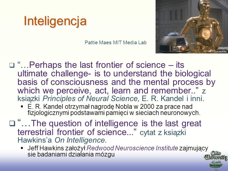 EE141 Inteligencja Obudowana Definicja Inteligencja Obudowana (Embodied Intelligence EI) jest to mechanizm który uczy sie jak przetrwać w nieprzychylnym otoczeniu –Mechanizm: biologiczny, mechaniczny albo wirtualny agent –EI oddziaływuje na otoczenie i odczuwa wyniki swojego działania –Nieprzychylność otoczenia nie zanika i stymuluje EI do działania –Nieprzychylność: agresja, bol, ograniczone środki, itp.