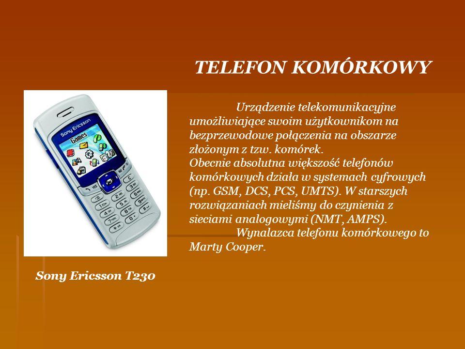 Sony Ericsson T230 TELEFON KOMÓRKOWY Urządzenie telekomunikacyjne umożliwiające swoim użytkownikom na bezprzewodowe połączenia na obszarze złożonym z
