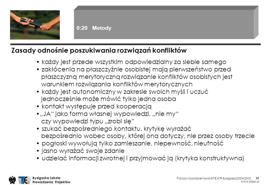 Pracownia problemowa WTiE ATR Bydgoszcz 2004/2005 Bydgoska Szkola Prowadzenia Projektów www.bspp.pl 25 każdy jest przede wszystkim odpowiedzialny za s