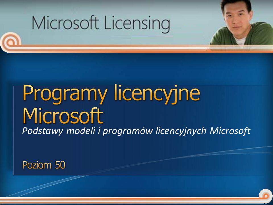 Podstawy modeli i programów licencyjnych Microsoft