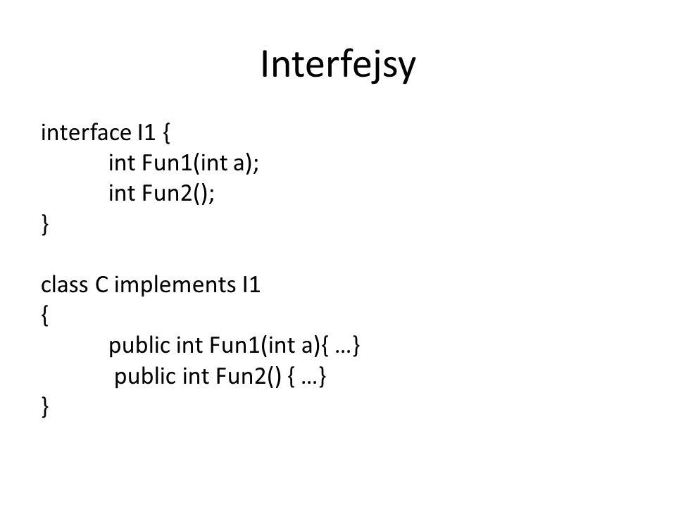 Obsługa zdarzeń public class Now extends Activity implements View.OnClickListener { Button btn; @Override public void onCreate(Bundle icicle) { super.onCreate(icicle); btn=new Button(this); btn.setOnClickListener( new KlasaDoObslugiZdarzenia() ); … } … } public class KlasaDoObslugiZdarzenia implements View.OnClickListener { public void onClick(View view) { ……..