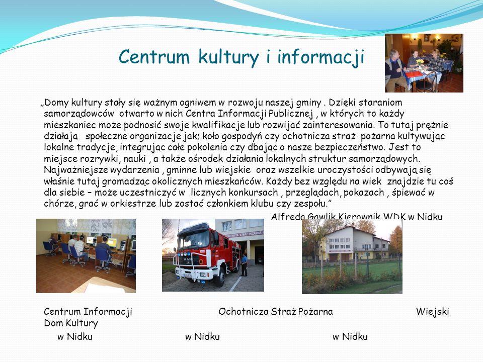 Centrum kultury i informacji Domy kultury stały się ważnym ogniwem w rozwoju naszej gminy. Dzięki staraniom samorządowców otwarto w nich Centra Inform