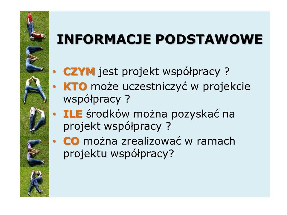 INFORMACJE PODSTAWOWE CZYM CZYM jest projekt współpracy .