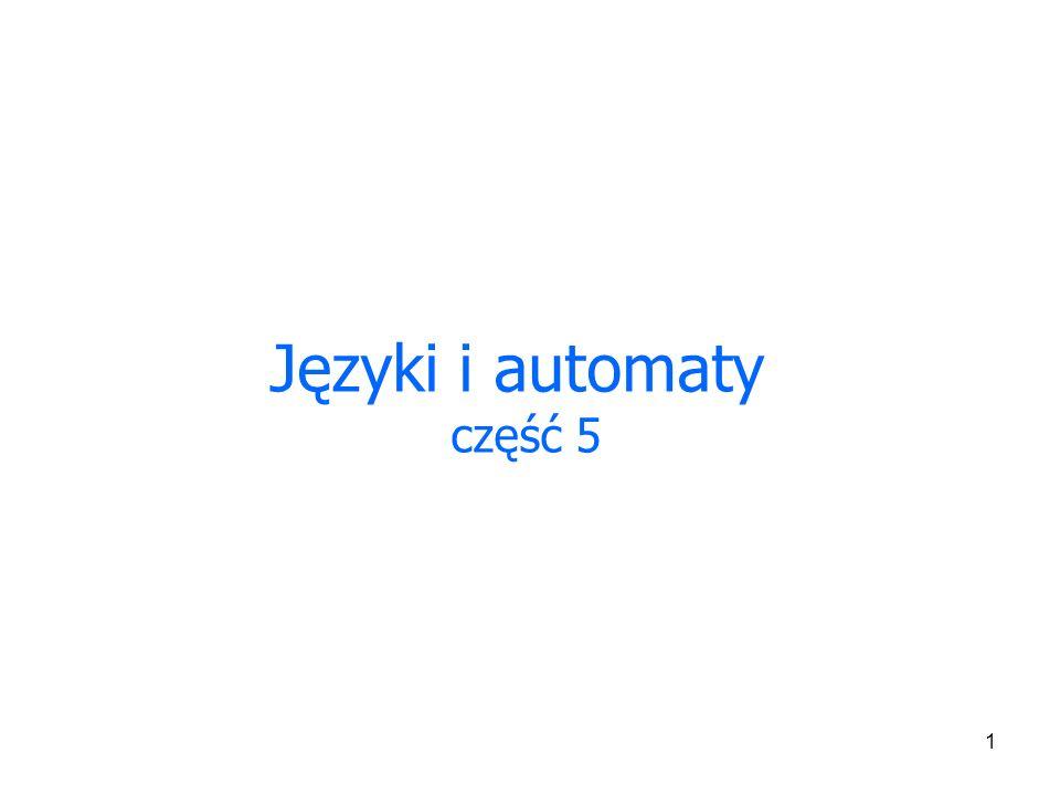 1 Języki i automaty część 5