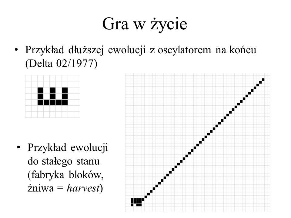 Automaty komórkowe Próba wprowadzenia przez Wolframa podziału automatów (jednowymiarowych): – Klasa I: Automaty niezmienne - ewoluują do stałego stanu homogenicznego, np.
