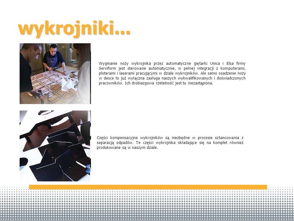 wykrojniki... Części kompensacyjne wykrojników są niezbędne w procesie sztancowania z separacją odpadów. Te części wykrojnika składające się na komple