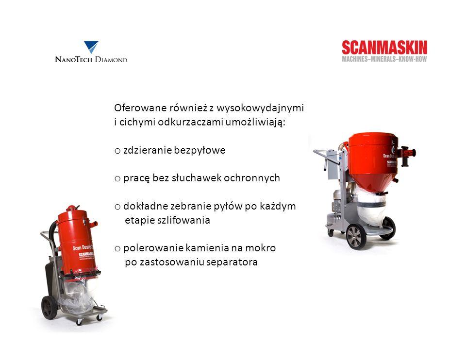 Scan Dust 2800 Parametry techniczne: Rozmiar: 51x80x112 cm Waga: 30 kg Moc: 2,8 kW Wydajność: 420 m 3 /h Podciśnienie: 230 mbar Zalecane do maszyn: SC 500PD, SC 500i oraz SC 450