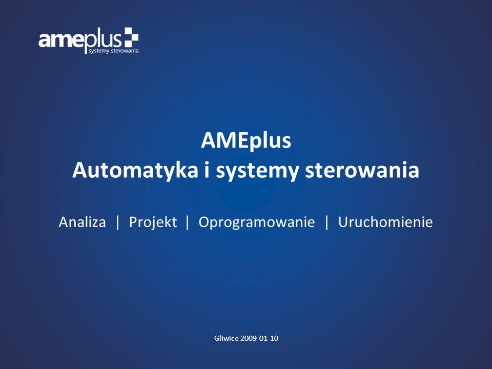 PROFIL AMEPLUS AMEplus należy do czołówki polskich przedsiębiorstw świadczących usługi w zakresie projektowania i oprogramowania oraz instalacji sprzętu automatyki i systemów sterowania.
