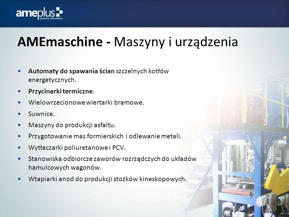 AMEmaschine - Maszyny i urządzenia Automaty do spawania ścian szczelnych kotłów energetycznych. Przycinarki termiczne. Wielowrzecionowe wiertarki bram