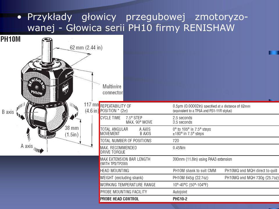 21 Przykłady głowicy przegubowej zmotoryzo- wanej - Głowica serii PH10 firmy RENISHAW