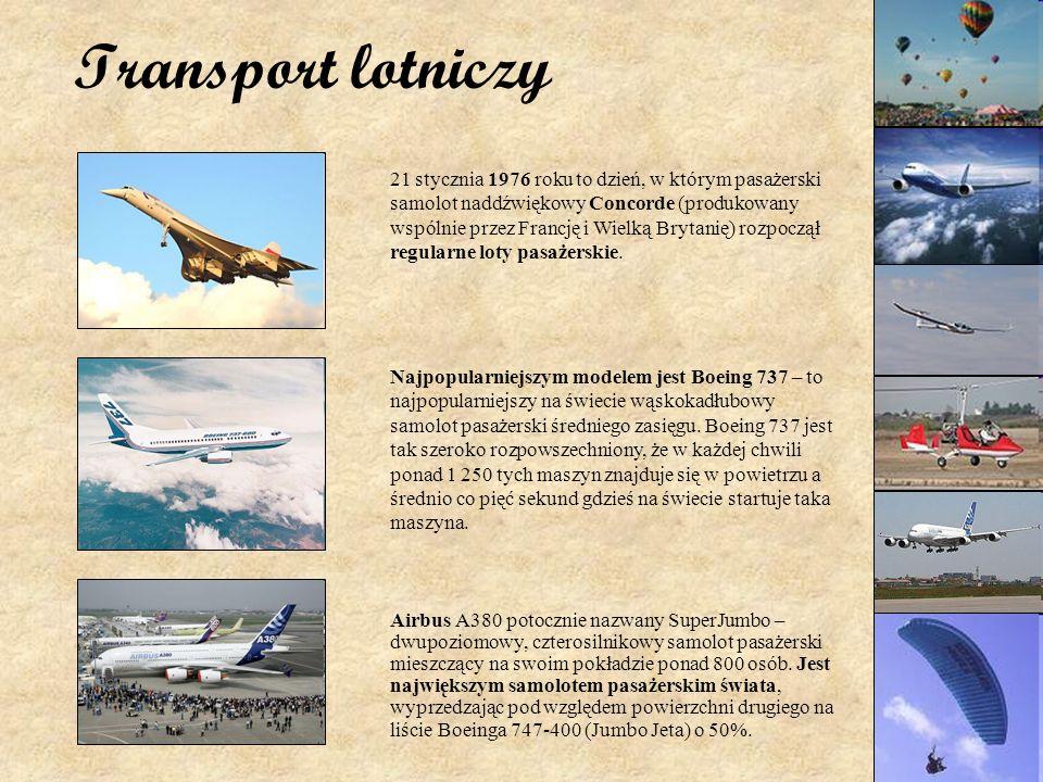 Transport lotniczy Airbus A380 potocznie nazwany SuperJumbo – dwupoziomowy, czterosilnikowy samolot pasażerski mieszczący na swoim pokładzie ponad 800