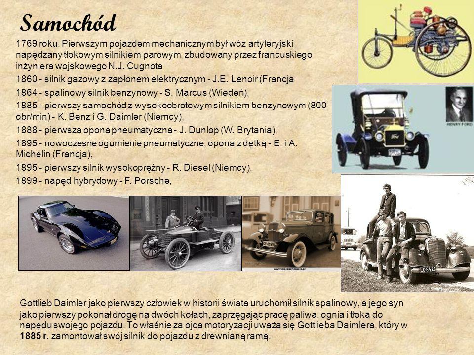 Samochód Gottlieb Daimler jako pierwszy człowiek w historii świata uruchomił silnik spalinowy, a jego syn jako pierwszy pokonał drogę na dwóch kołach,