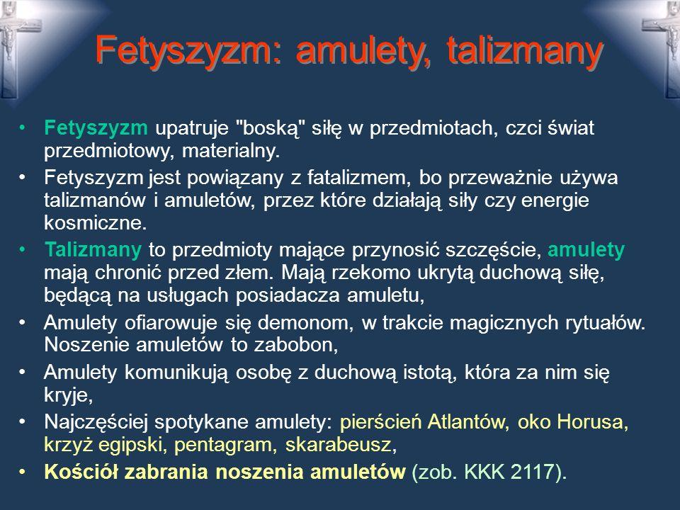 Neopogaństwo, bałwochwalstwo Neopogaństwo to usiłowanie wskrzeszenia dawnych religii (rozszerza się w Europie): tradycje celtyckie, religie słowiańskie czy germańskie, kult Ziemi, Ludzie modlą się do Matki Ziemi, do słońca, sami udzielają sobie błogosławieństwa przez rytuały, W neopogaństwie człowiek staje się bogiem, Neopogaństwo atakuje porządek chrześcijański, Bałwochwalstwo - polega na ubóstwianiu tego, co nie jest Bogiem.