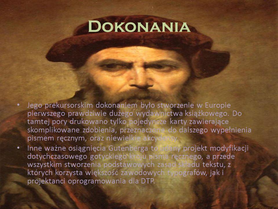 Dokonania Jego prekursorskim dokonaniem było stworzenie w Europie pierwszego prawdziwie dużego wydawnictwa książkowego. Do tamtej pory drukowano tylko