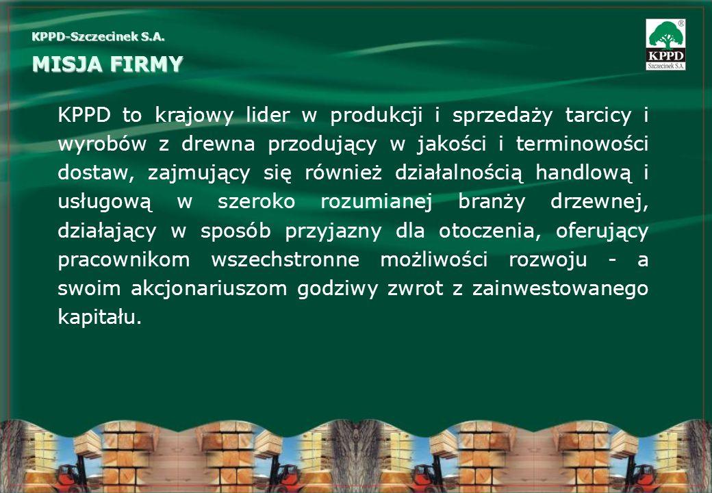 KPPD to krajowy lider w produkcji i sprzedaży tarcicy i wyrobów z drewna przodujący w jakości i terminowości dostaw, zajmujący się również działalnośc