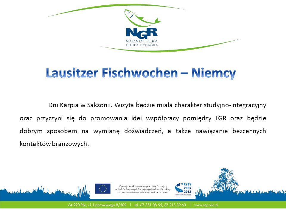 Dni Karpia w Saksonii. Wizyta będzie miała charakter studyjno-integracyjny oraz przyczyni się do promowania idei współpracy pomiędzy LGR oraz będzie d