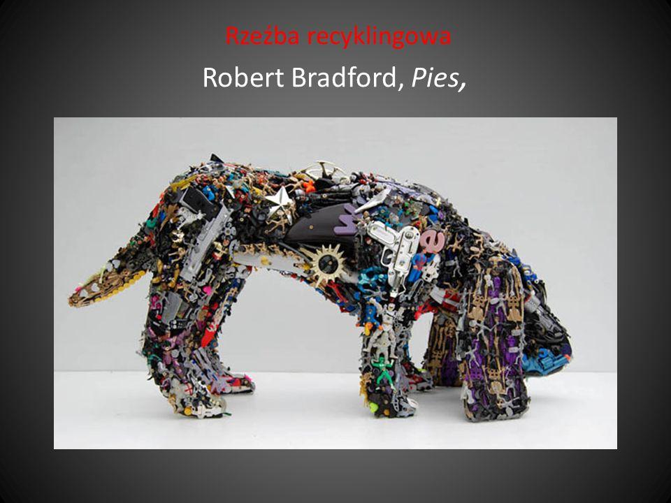 Rzeźba recyklingowa Robert Bradford, Pies,