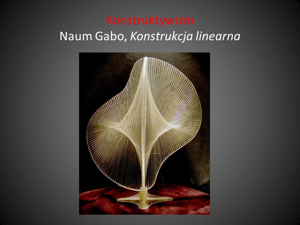 Konstruktywizm Naum Gabo, Konstrukcja linearna
